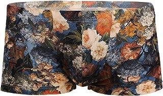 YiZYiF Mens Underwear Floral Print Bulge Pouch Boxer Briefs Short Panties