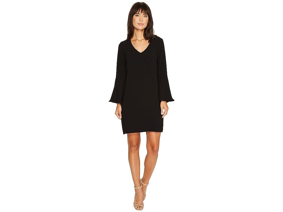 Karen Kane Madeline Bell Sleeve Dress (Black) Women