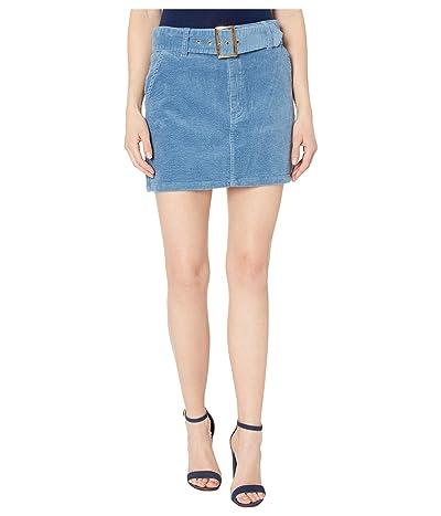 Show Me Your Mumu Tessa Belted Miniskirt (Blue Corduroy) Women