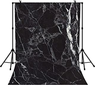 LYLYCTY 5x7ft Black Marble Backdrop Texture Pattern Photography Background Photo Studio Props Wallpaper LYZY0840