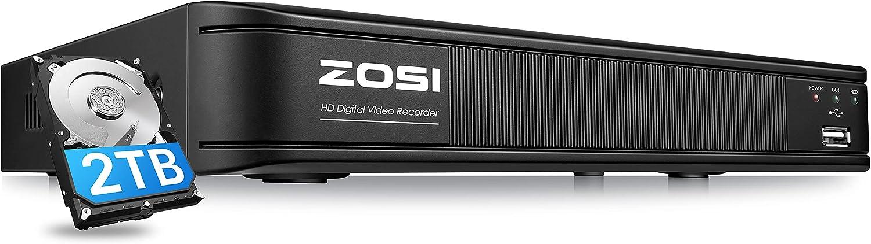 ZOSI H.265+ Virginia Beach Mall 5MP Lite 8 Channel Recorder CCTV Luxury goods with DVR Drive Hard
