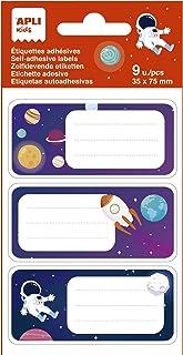 APLI Kids 19017 Schoollabels, modelplaneten, ideaal voor het beschrijven van boeken en voorwerpen, 3 verschillende ontwerp...