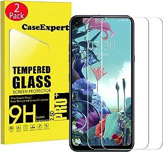 WenTian 2-pack – LG Q70 härdat glas, CaseExpert® härdat glas kristall klart skärmskydd skydd och poleringstyg för LG Q70