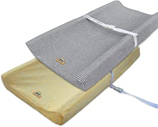 Ultra Soft and Comfortable Changing Pad Cover 2pk by BlueSnail (Gray+Yellow)