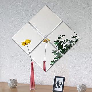 comprar comparacion 4 piezas de azulejos espejo Image 30 espejo cada 30x30cm decoración de la pared espejo de pared espejo adhesivo