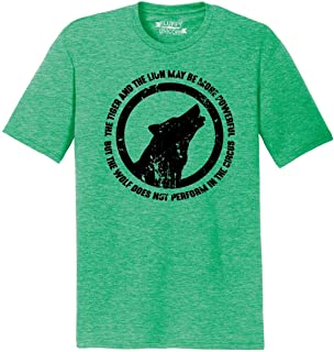 Mens Tiger Lion Powerful Wolf Not Circus Tri-Blend Tee