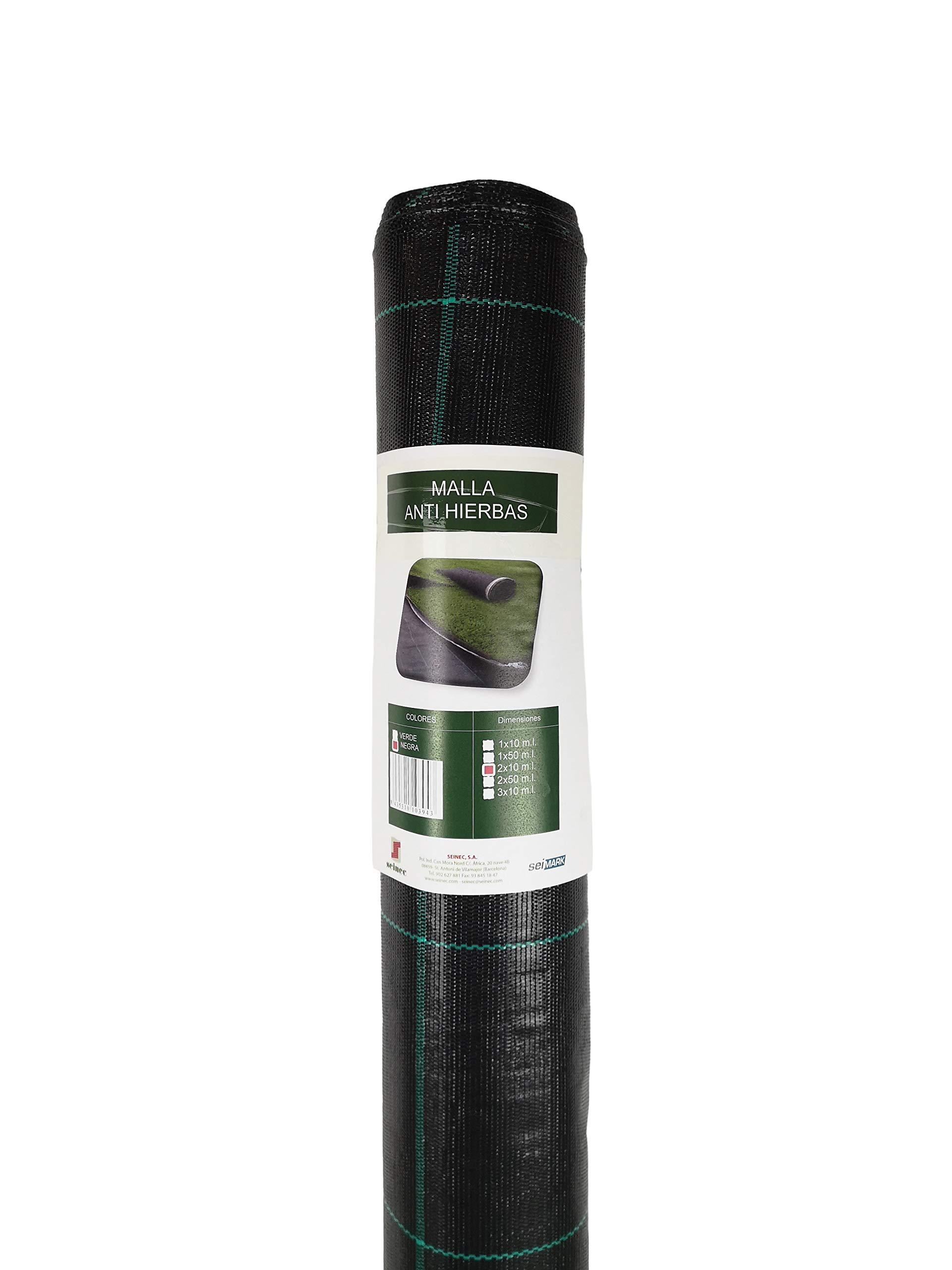 Seinec Malla/Tela Antihierbas Negra 50m² (1 x 50m). Resistente a Roturas. con Protección UV para el Control de Maleza en Jardín y Huertos Ecológicos. Ocultación. Polipropileno (PP): Amazon.es: Jardín