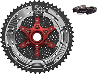 JGbike Sunrace 11 12 Speed MTB Cassette 11-46T 11-50T Wide Ratio Including 22mm Extender - MS8 MX8 MX80 MZ90 for Shimano-Type splined freehub Body M7000 M8000 M9000 System