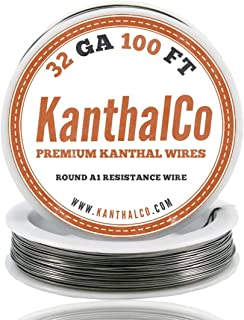 KanthalCo Genuine Kanthal 32 Gauge AWG A1 Wire 100ft Roll 0.20 mm , 13.75 Ohms/ft Resistance