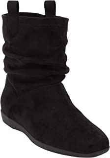 Comfortview Women's Plus Size The Demy Bootie