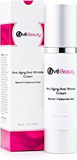 Best Anti Aging Face Cream With Both Retinol and Hyaluronic Acid! LARGE Size Facial Moisturizer For Youthful Radiant Skin ...
