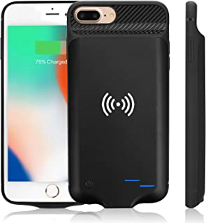 Not Battery 5.5 inch ,with Cable Charging Port,Soft TPU Shockproof Protective case,Brushed Surface Finish Qi Wireless Charging Reciver Case for iPhone 7//6s//6/&Plus