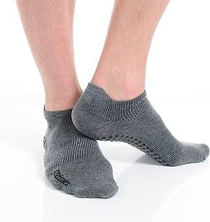 Great Soles Tabbed Grip Socks for Men - Non Slip Yoga Socks for Pilates, Barre, Ballet and Everyday Wear