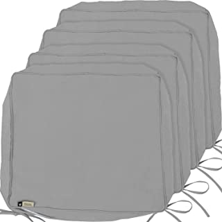 Outdoor Cushion Covers, 4-Pack Deep Seat Patio Cushion Cover, Heavy Duty Outdoor Furniture Lawn Couch Sofa Chair Seat Cushion Replacement, 24 x 22 x 4 Thick, Set of 4, Grey