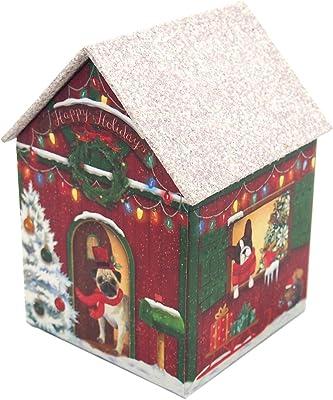 Punch Studio Canine Cabin Glitter Embellished Nesting House Box, Small 41355