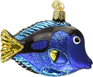 Old World Christmas Pacific Blue Tang Glass Blown Ornament Fish