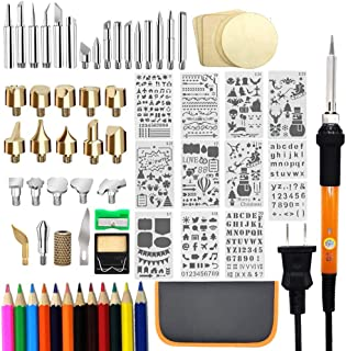 82 PCS Wood Burning Kit, Father's Day Wood Tool with Adjustable On-Off Switch..