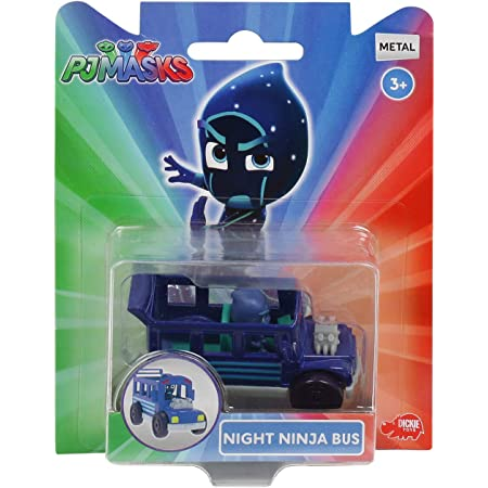Pj Masks Single Pack Diecast Night Ninja Bus for Kids, Age 3 to 8 Years