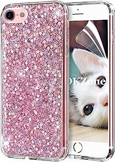 15c552e9a4e OKZone Funda iPhone 8 Carcasa Purpurina,Funda iPhone 7, Cárcasa Lujosa  Brilla Glitter Brillante