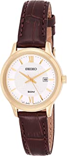 SEIKO Women's Quartz Watch, Analog Display and Leather Strap SUR644P1
