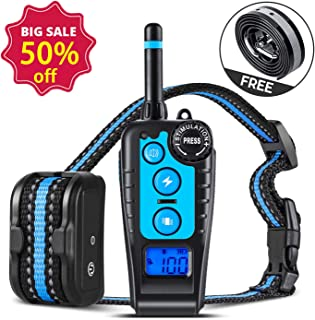 GLOUE Dog Training Collar,1640FT Remote Shock Collar for Dogs,Waterproof and Rechargeable,Beep/Vibration/Shock w/3 Training Modes for Small Medium Large Dogs