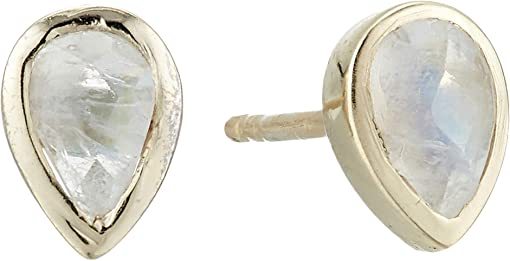92Sterling Silver/Gold Plating/Moonstone
