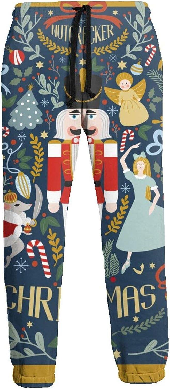 Mens Elastic Waist Sweatpants Christmas Decor Ballet Joggers Sweatpants for Gym Training Sport Pants