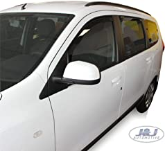 J&J Automotive - Deflectores de viento compatibles con Dacia Lodgy 5 puertas 2012 (4 unidades)