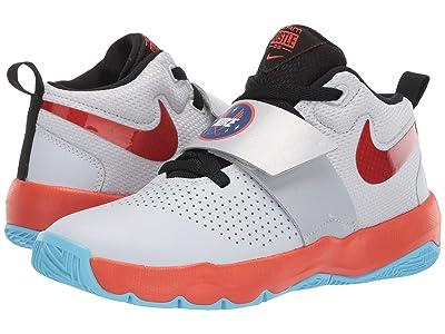 Nike Kids Team Hustle D 8 SD (Big Kid) (Pure Platinum/Team Orange/Black) Boys Shoes