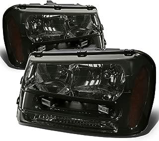 For Chevy Trailblazer Pair of Smoked Lens Amber Corner Headlight Lamp Kit Replacement