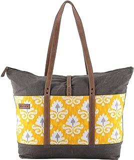 Sixtease Springbot Upcycled Canvas & Genuine Leather Weekender Bag SB-2243