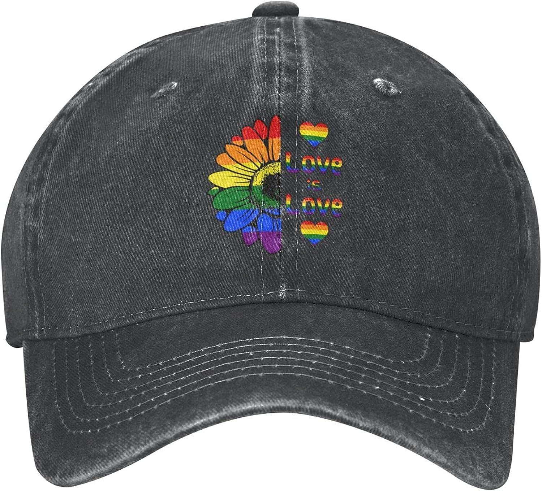 LGBT Hat Unisex LGBT Vintage Cotton Adjustable Pride LGBT Baseball Cap for Women and Men