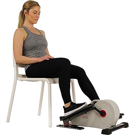 Sunny Health & Fitness Fully Assembled Magnetic Under Desk Elliptical Peddler – SF-E3872, Grey