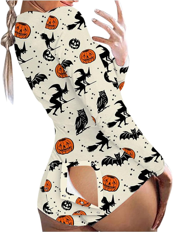 Jumpsuit Women's Functional Button-Down Nightwear Bodysuit Playsuit Jumpsuit