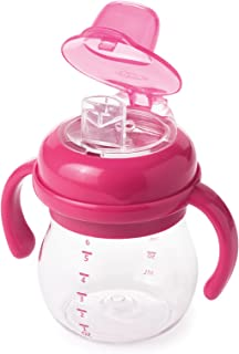 OXO Tot Transitions Soft Spout Sippy Cup with Removable Handles, Pink, 6 Ounce