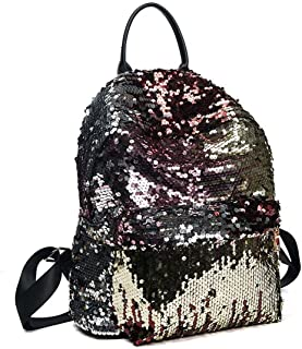 Mini Sequin Bling Paillette Backpack School Bag Purse Fashion Magic Sequin Backpack (Gold)