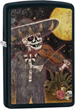 Zippo Lighter Day of the Dead Fiddler - Black Matte