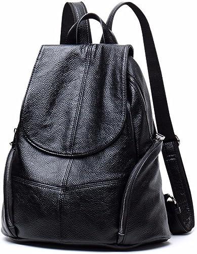 BMKWSG Frauen Rucksack Leder Rucksack mädchen Schultasche Casual Tagesrucksack Schule