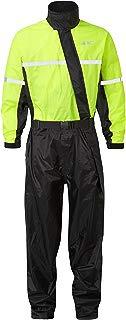 JDC Traje Impermeable Moto Lluvia Sobre Traje 1PC 1 Pieza - SHIELD - Amarillo/Negro - XXL - 32L