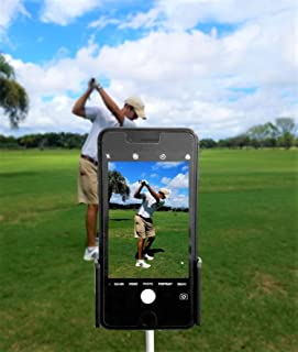IRON AMERICAN Swing Pure (1 OR 2 Pack) Golf Swing Recording Training Aids - Golf Phone Holder Clip - Record Golf Lessons or Golf Swing/Short Game/Putting - Golf Accessories