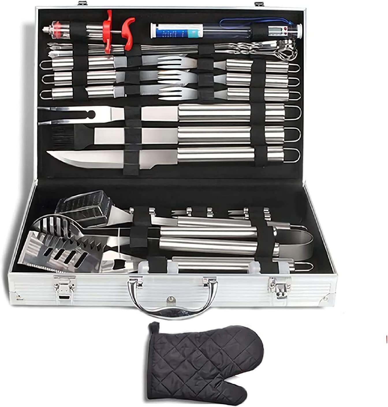 ZNWEATCZ BBQ Grill Tools Large discharge sale Set 32Pcs Grilling Gl Utensil with Safety and trust