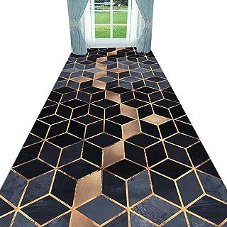 Non-Slip Carpet YANZHEN Hallway Runner Rugs Non-Slip Soft Water Absorption Living Room Polyester Wear-Resistant, Multi-Siz...