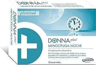 DonnaPlus Menocífuga Noche 30 comprimidos. complemento alimenticio para la mujer en la menopausia. Cimicífuga racemosa. Melatonina. GABA y Vitaminas K2. D3. B6. B9 y B12. 1 Cápsula por la noche.