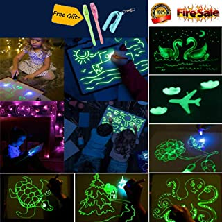 Light Drawing - Fun and Developing Toy, PVC Draw with Light in Darkness Child Sketchpad Toys Gift Luminous Drawing Board
