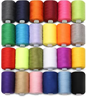 KING DO WAY 24 Assorted Colors Polyester Sewing Thread Spool 1000 Yards Each