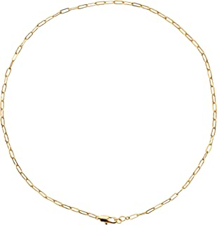 Gold Chain Necklace - Choker Necklace for Women Wide Necklace Chain 14k Gold Necklace Open Link Chain Necklace Gold Oval Link Chain Necklace for Women Open Link Choker (Open Link Gold Chain)