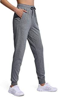 OUGES Women Cotton Jogger Sweatpants Full Length Drawstring Tapered Pants with Pockets