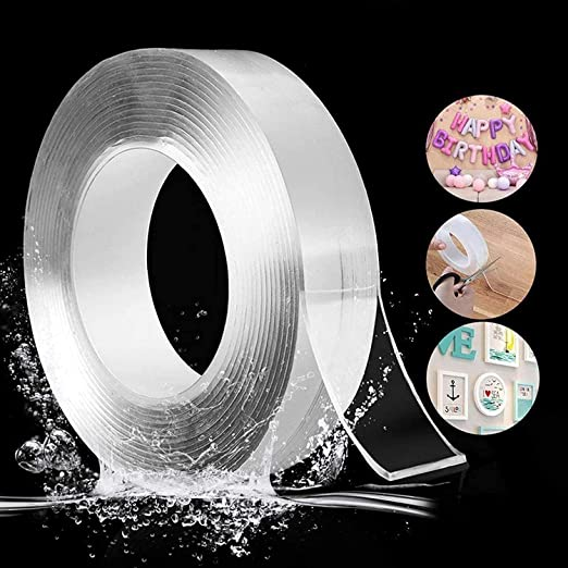 Avedia Double sided tape washi nano glue magic transparent strong two way rivil civil invisible for wall EASY TO USE & REMOVABLE WASHABLE AND REUSABLE STRONG VISCOSITY