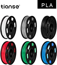 Tianse 3D Printer pla Filament 1.75mm Dimensional Accuracy +/- 0.03 mm 6 Color