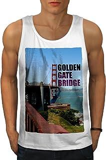Wellcoda ゴールデン ゲート アメリカ合衆国 ファッション 男性用 S-2XL タンクトップ